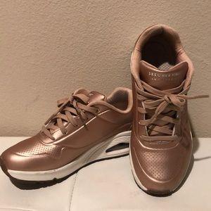 Skechers Rose Gold Unos Sneakers